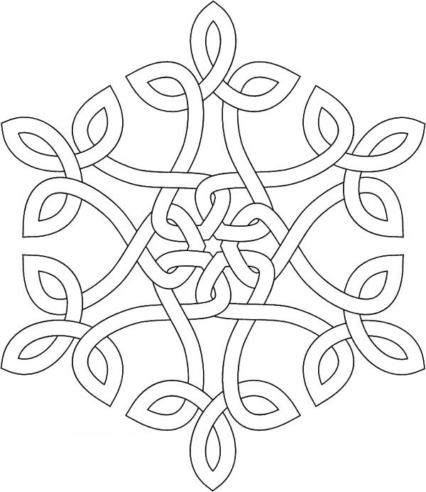 dotted line christmas snowflakes coloring page - Christmas Snowflake Coloring Pages