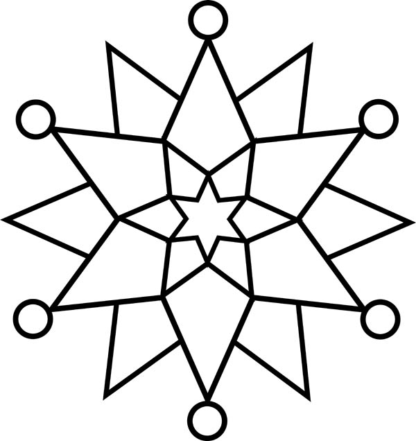 free snowflake coloring pages  Coloring Pages
