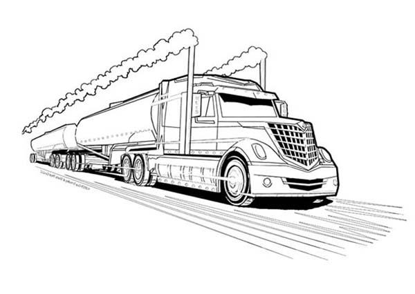 download excellent semi truck trailer coloring pages - Semi Truck Trailer Coloring Pages