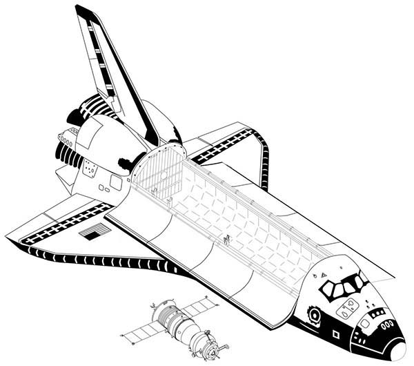 module inside a space shuttle coloring page module inside a space shuttle coloring page kids play color - Nasa Space Shuttle Coloring Pages