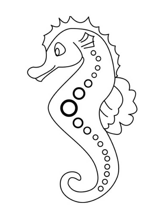 seahorse lovely seahorse in cartoon coloring page lovely seahorse in cartoon coloring pagefull size - Cute Baby Seahorse Coloring Pages