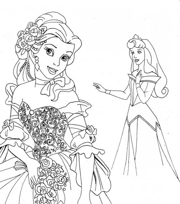 Disney princesses coloring pages aurora