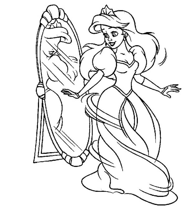 coloring pages disney princess ariel coloring pages