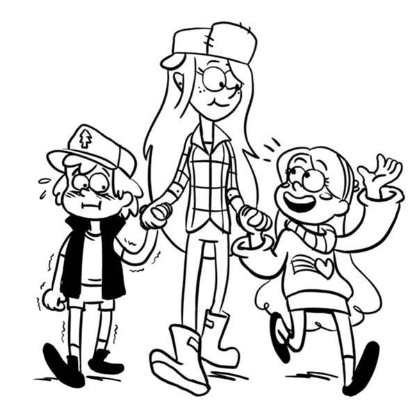 Gravity Falls Color Page Falls Coloring Page Feel