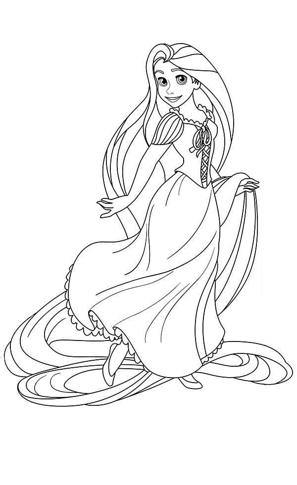 lovely princess rapunzel coloring page lovely princess rapunzel printable coloring - Tangled Coloring Pages Girls