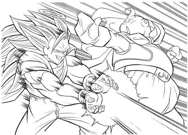 super saiyan coloring pages