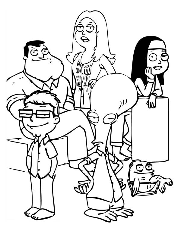other characters in family guy coloring page other characters in