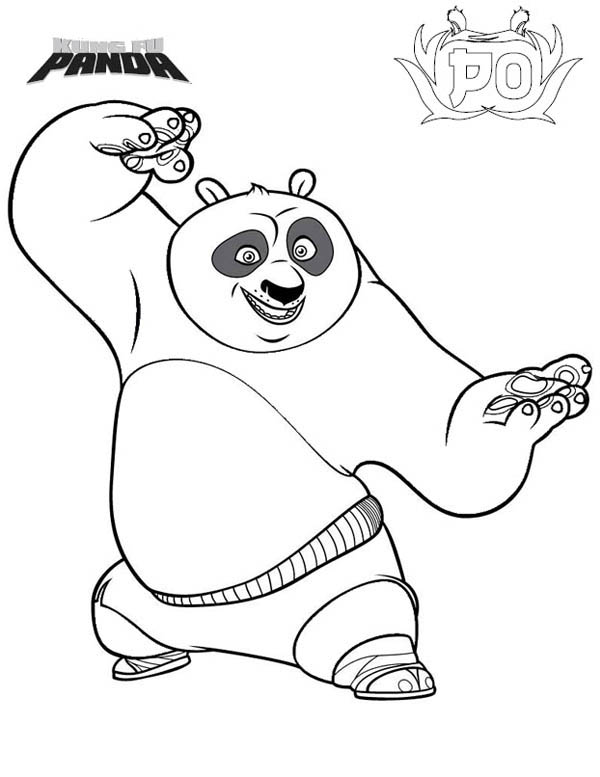 Printable Coloring Pages Kung Fu Panda 2 Po Is Excited To Fight In