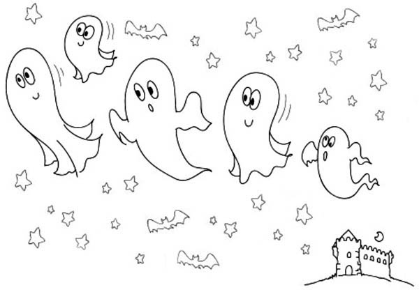 Free Printable Halloween Coloring Ghost Pages Color Page