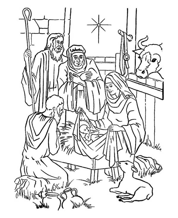 Nativity Coloring Pages Silent Night Joseph
