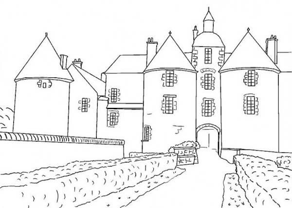 France Medieval Castle Coloring Page France Medieval Castle