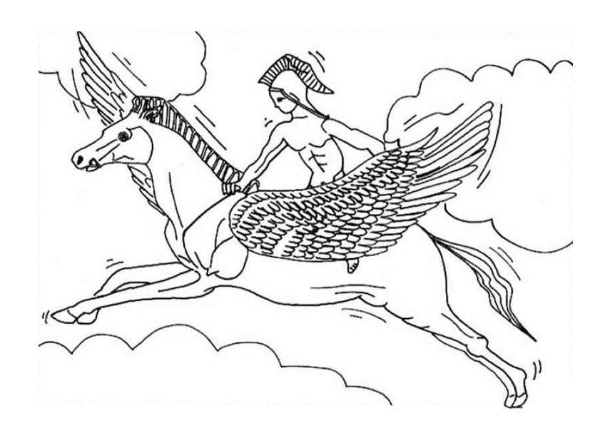 Realistic Pegasus Coloring Pages Ride Pegasus Coloring Page