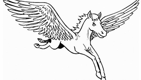 Realistic Pegasus Coloring Pages Pegasus Coloring Page