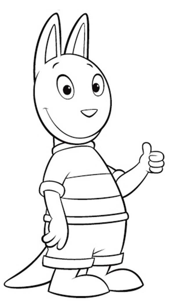 austin say its ok in the backyardigans coloring page austin say its ok in the backyardigans coloring page kids play color - Backyardigans Coloring Pages Print