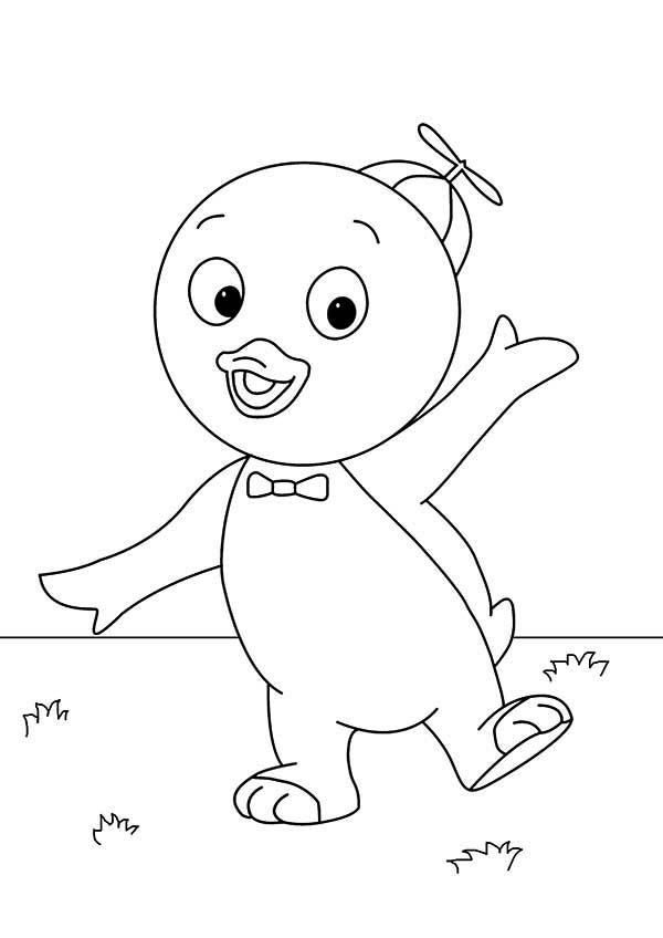 cute little pablo in the backyardigans coloring page: cute little ... - Backyardigans Coloring Pages Print
