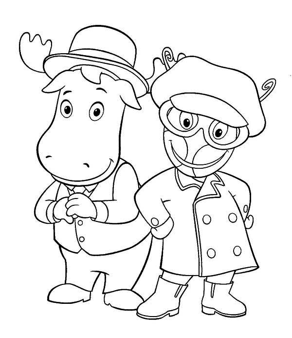 the backyardigans tyrone and uniqua from the backyardigans coloring page tyrone and uniqua from - Backyardigans Coloring Pages Print