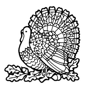 a mozaic style thanksgiving day turkey coloring page