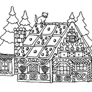 Gingerbread Houses Coloring Pages Great Gingerbread Coloring Page