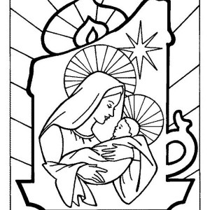 christmas gift coloring pages. printable coloring pages christmas ... - Mary Baby Jesus Coloring Page