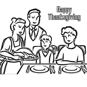 Turkey Dinner Coloring Page Pages Free Template