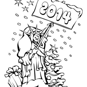 happy 2014 new year says mrs liberty coloring page