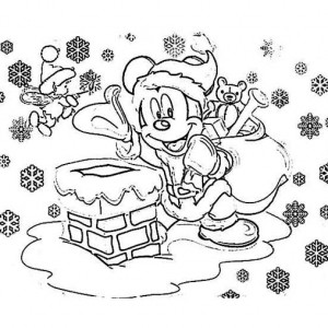 Mr Snowman Preparing for Christmas Coloring Page Kids Play Color