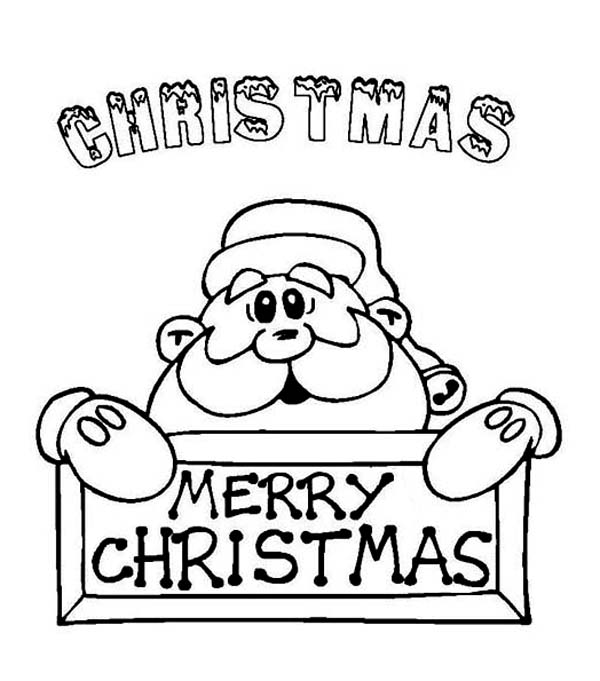 Christmas, : Santa Says Merry Christmas to Y'all Coloring Page