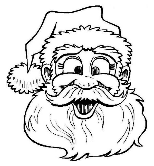 Christmas, : Santas Laughing on Christmas Coloring Page