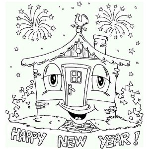 New year hats coloring pages newyearinfo 2018