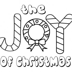 the joy of christmas for everyone coloring page - Christmas Snowflake Coloring Pages