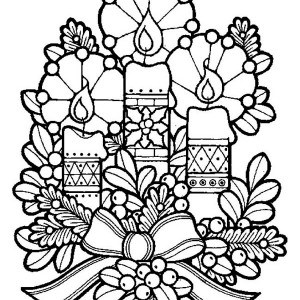 three lovely candles for christmas eve coloring page christmas snowflakes pattern coloring page - Christmas Snowflake Coloring Pages