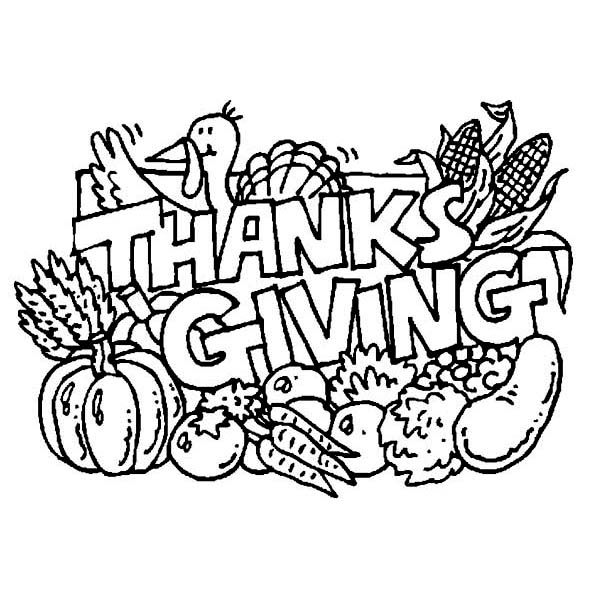 Thanksgiving Day, : Whole Pack of Thanksgiving Day Dinner Menu Coloring Page