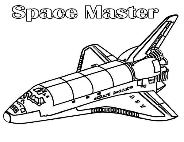 Space Shuttle, : A Model Kit of Space Shuttle in Realistic Figure Coloring Page