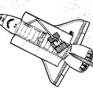 a space shuttle with an opened cargo doors and the modules coloring page - Nasa Space Shuttle Coloring Pages