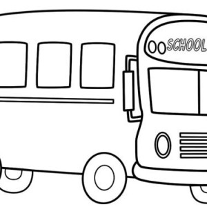 a typical american school bus coloring page
