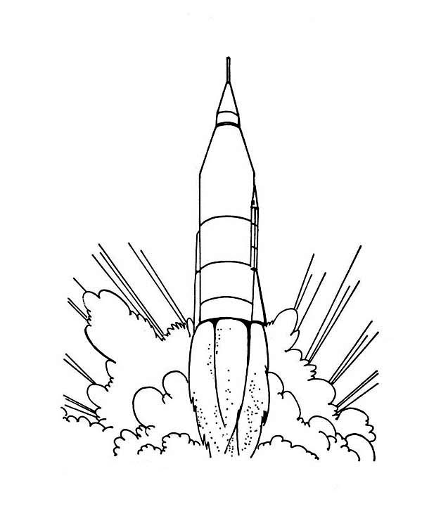 Space Shuttle, : A Typical Space Shuttle from the 70s Coloring Page
