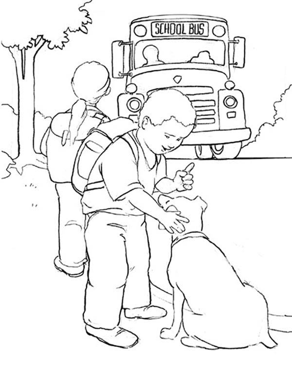 a boy and his dog coloring pages - photo #20