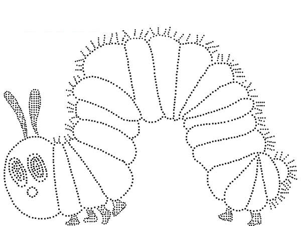 Caterpillars, : Caterpillar Squeezing Its Body to Move Coloring Page