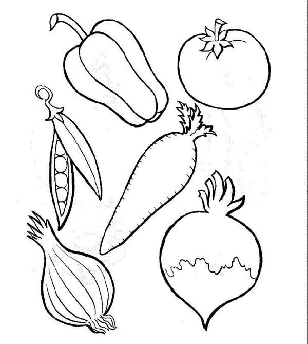 A Basket of Fruits Coloring Page | Kids Play Color