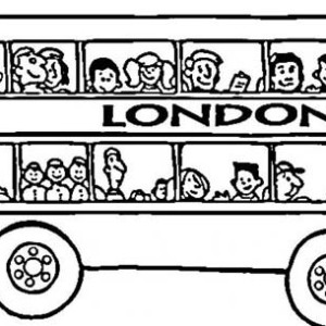Its London Double Decker School Bus Coloring Page