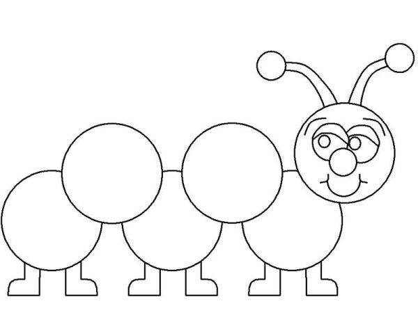 Learn How To Draw A Caterpillar Coloring Page Kids Play Color