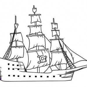 98 How To Draw A Pirate Ship In Easy Steps For Children Kids Image