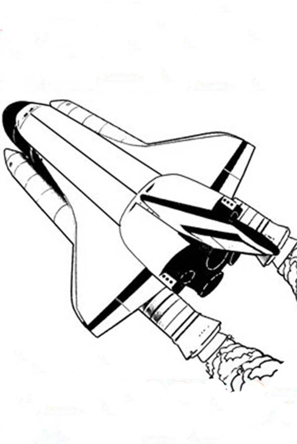 Space Shuttle, : Space Shuttle and Its External Tank Coloring Page