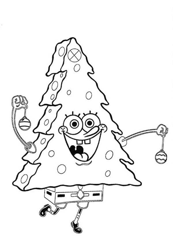 SpongeBob SquarePants, : SpongeBob Dancing in Christmas Tree Custome