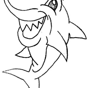 Tiger Shark Coloring Pages Perfect Similiar Shark Open Mouth