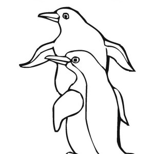 Coloring Page: This Two Penguins are Having Fun Together Coloring Page ...