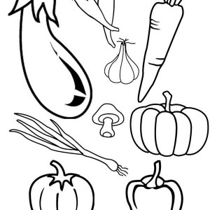 Garlic Vegetables Coloring Page Kids Play Color