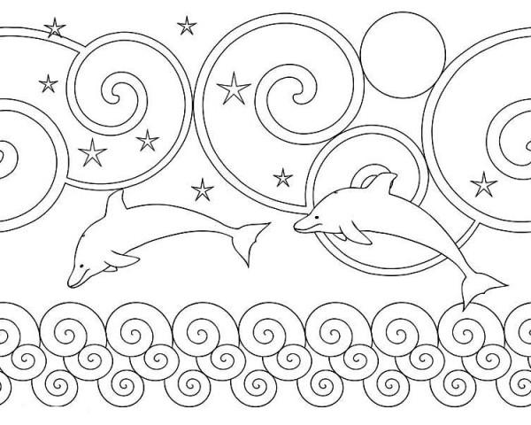 Dolphin, : dolphin-fantasy-land-coloring-page.jpg