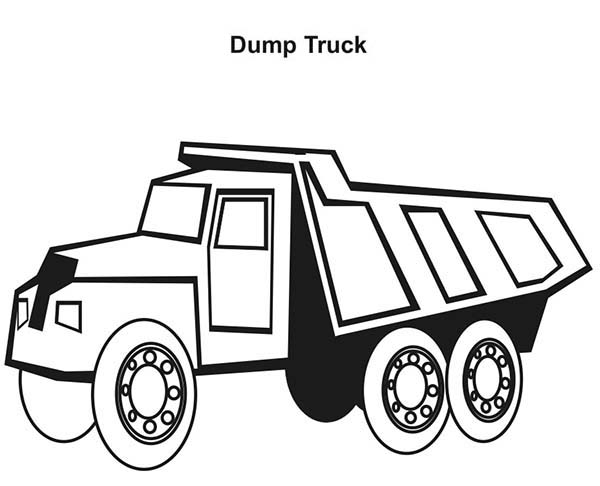 Trucks, : dump-truck-drawing-coloring-page.jpg