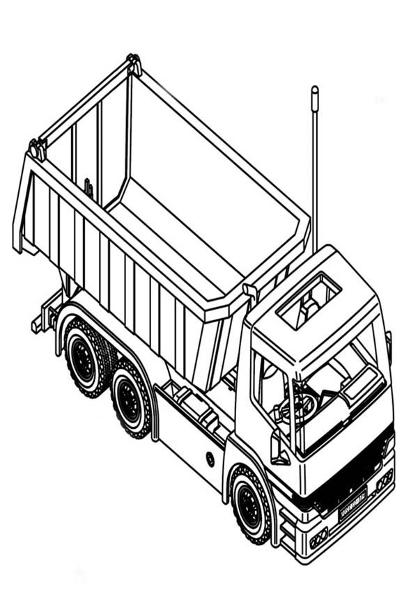 Trucks, : dump-truck-top-view-coloring-page-for-kids.jpg